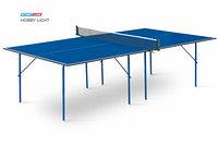 Теннисный стол Hobby Light blue- облегченная модель теннисного стола для использования в помещениях