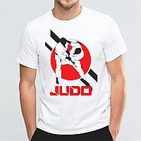 Футболка с принтом Judo, Дзюдо