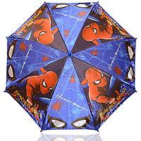 Зонт детский Человек Паук трость 68 сантиметров темно-синий