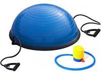 Балансировочный тренажер Original FitTools Босу BS500 черный-синий