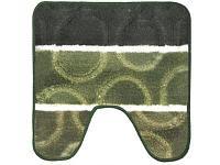 Коврик для ванной Аквалиния Twitst Полоски Круги зеленый 2 предмета