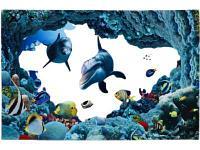 Коврик для ванной Доляна Дельфины 2353260 80х120 мультиколор