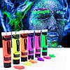 Краска грим неоновая светящийся в ультрафиолете 25 мл