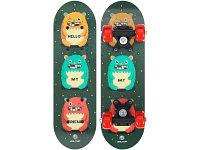 Скейтборд Onlitop Монстры 5290550 зеленый 17