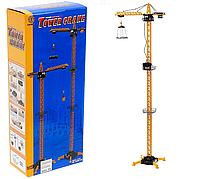 Детский игровой башенный кран «Стройка» Tower Crane 6390-3, на пульте управления, высота 1,8 м