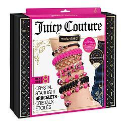 Набор для творчества Make It Real Juicy Couture Swarovski Black & Pink, браслеты Сваровски