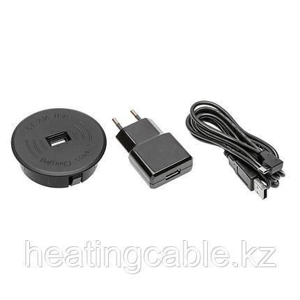Беспроводное зарядное устройство в столешницу, кабель USB 2м, фото 2