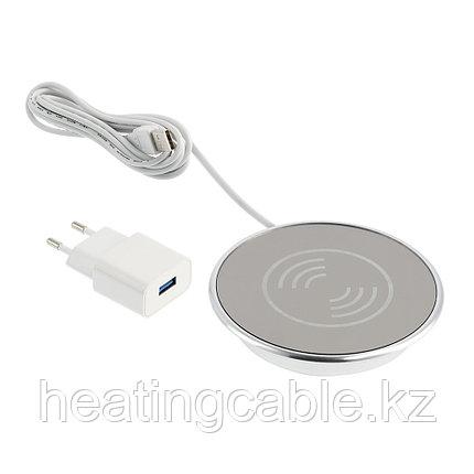 Беспроводное зарядное устройство LUX с USB-разъемом, источником питания и кабелем USB 2м, 2A, фото 2