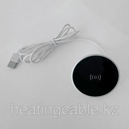 Беспроводное зарядное устройство в столешницу 2А, 60 мм, с USB-кабелем, фото 2