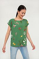 Блузка женская Finn Flare, цвет зеленый, размер XL