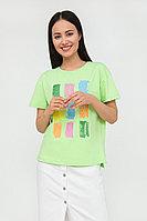 Футболка женская Finn Flare, цвет салатовый, размер L