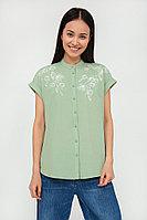 Блузка женская Finn Flare, цвет зеленый, размер 3XL