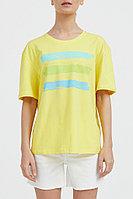 Футболка женская Finn Flare, цвет светло-желтый, размер 3XL