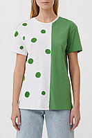 Футболка женская Finn Flare, цвет зеленый, размер S
