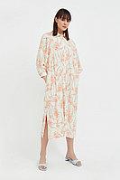 Платье-рубашка с растительным принтом Finn Flare, цвет молочный, размер 2XL