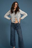 Куртка джинсовая женская Finn Flare, цвет голубой, размер 2XL