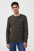 Джемпер мужской Finn Flare, цвет оливковый, размер 2XL
