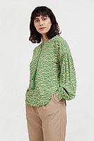 Свободная блуза с завязками-кисточками Finn Flare, цвет зеленый, размер 2XL