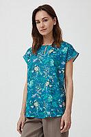 Блузка женская Finn Flare, цвет темно-бирюзовый, размер M