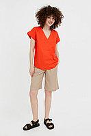 Однотонная льняная футболка Finn Flare, цвет красный, размер 2XL