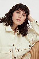 Куртка-рубашка из 100% хлопка Finn Flare, цвет молочный, размер S