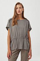 Однотонная блузка на кулиске Finn Flare, цвет светло-коричневый, размер XL