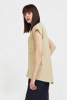 Льняная блузка асимметричного кроя Finn Flare, цвет песочный, размер M