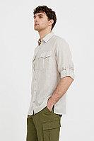 Рубашка мужская Finn Flare, цвет бежевый, размер 4XL