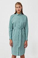 Хлопковое платье-рубашка с принтом Finn Flare, цвет темно-зеленый, размер XL