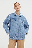Джинсовая куртка свободного кроя Finn Flare, цвет голубой, размер 2XL
