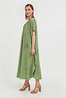 Свободное платье с принтом и завязками Finn Flare, цвет зеленый, размер XS/S