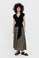 Комбинированное платье из вискозы Finn Flare, цвет черный, размер XS