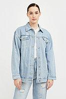Голубая джинсовая куртка Finn Flare, цвет голубой, размер M