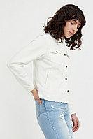 Джинсовая куртка с воротником-стойкой Finn Flare, цвет белый, размер S