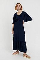 Платье макси из вискозы Finn Flare, цвет темно-синий, размер M