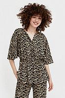 Блуза с принтом Finn Flare, цвет черный, размер 2XL