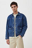 Куртка из денима с накладными карманами Finn Flare, цвет синий, размер M