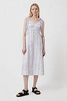 Полосатое платье из льна и хлопка Finn Flare, цвет темно-синий, размер 2XL