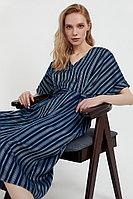 Платье-рубашка с геометричным принтом Finn Flare, цвет темно-синий, размер XL
