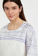Свободная блузка с полосатым принтом Finn Flare, цвет белый, размер S
