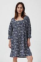 Хлопковое платье с поясом Finn Flare, цвет темно-синий, размер L