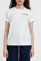 Футболка женская Finn Flare, цвет белый, размер 2XL