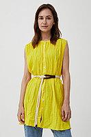 Удлиненная хлопковая блузка Finn Flare, цвет светло-желтый, размер 3XL