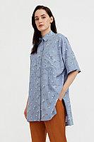 Рубашка оверсайз из хлопка Finn Flare, цвет голубой, размер XL