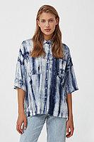 Рубашка с рисунком тай дай Finn Flare, цвет темно-синий, размер M
