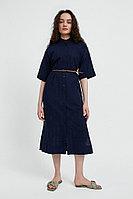 Хлопковое платье с набивным рисунком Finn Flare, цвет темно-синий, размер M