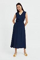 Платье-миди с V-образным вырезом Finn Flare, цвет темно-синий, размер 2XL