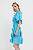 Платье-мини с объемными рукавами Finn Flare, цвет бирюзовый, размер M