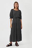 Платье в горох из вискозы Finn Flare, цвет черный, размер M