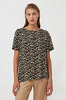 Свободная футболка с принтом Finn Flare, цвет черный, размер M